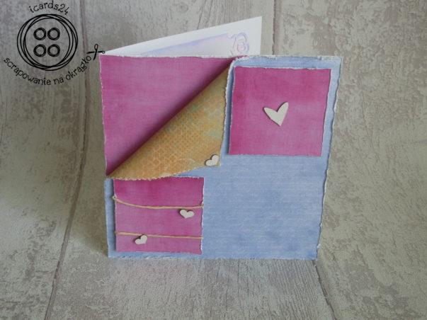Kartka walentynkowa - minimalizm z sercami