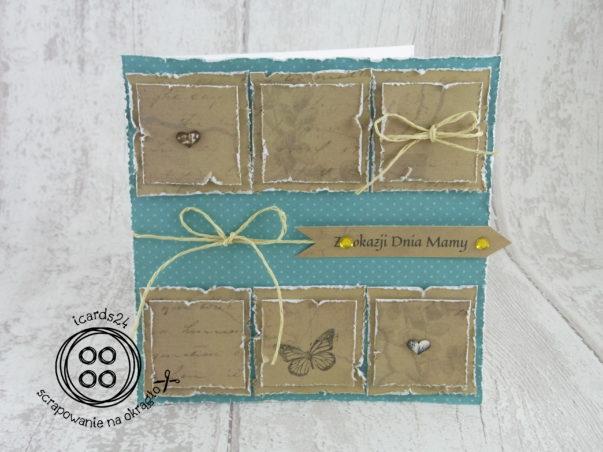 kartka patchwork dla Mamay