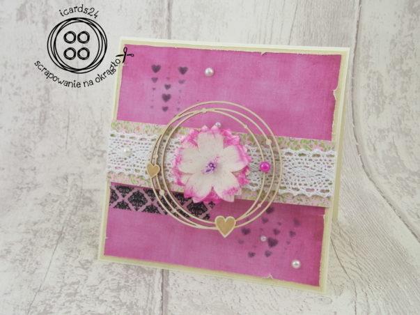 kartka różowa