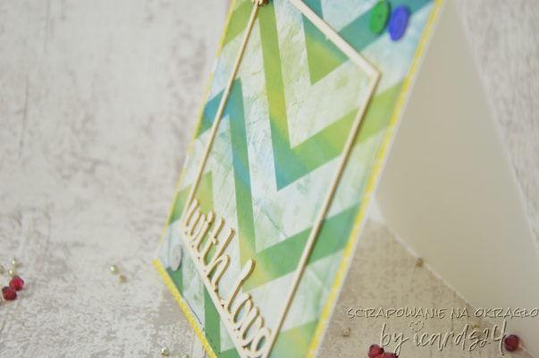 zielononiebieska kartka z ramką