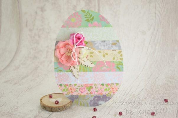 kartka Wielkanocna w kształcie jaja