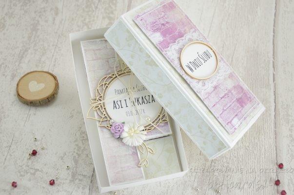 Kartka z okazji ślubu z pudełkiem