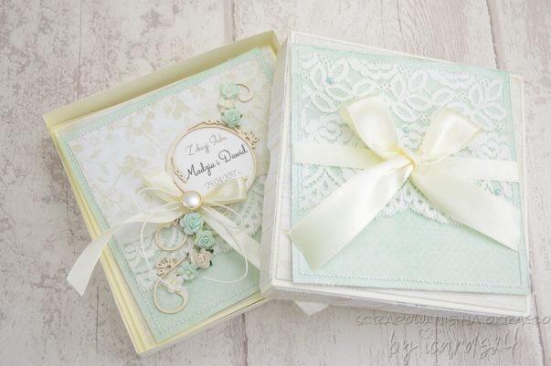 ślubna kartka z pudełkiem