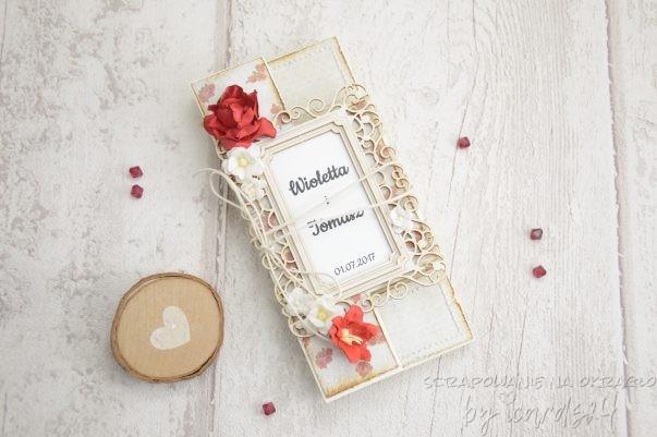 kartka ślubna parawan
