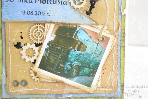 urodzinowa kartka z ciężarówką