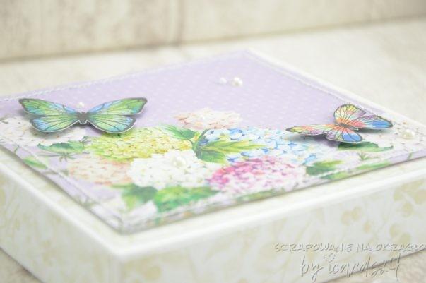 pudełko do kartki na urodziny