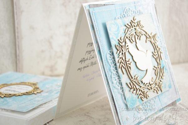 kartka z pudełkiem z okazji Chrztu Świętego