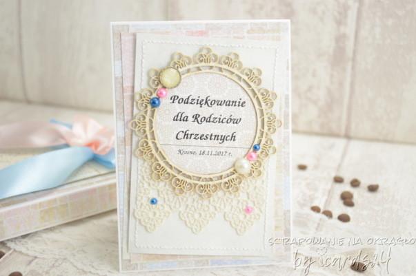 kartka dla Rodziców Chrzestnych