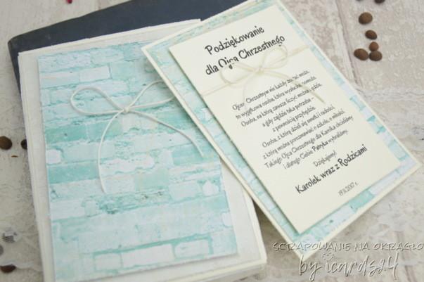 zestaw dla Chrzestnych morski