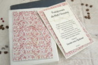 zestaw dla chrzestnych czerwony