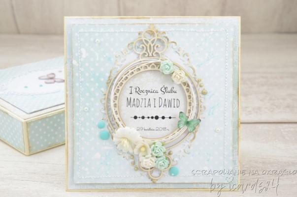 Miętowa pamiątka ślubna