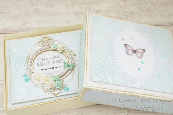 kartka z pudełkiem z okazji rocznicy Ślubu