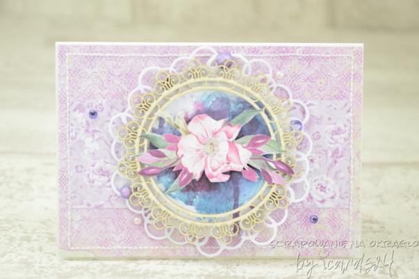 fioletowa kartka z okazji urodzin
