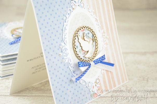 zaproszenia różowo-niebieskie
