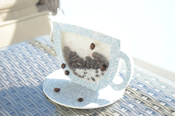 filiżanka 3D z kawą
