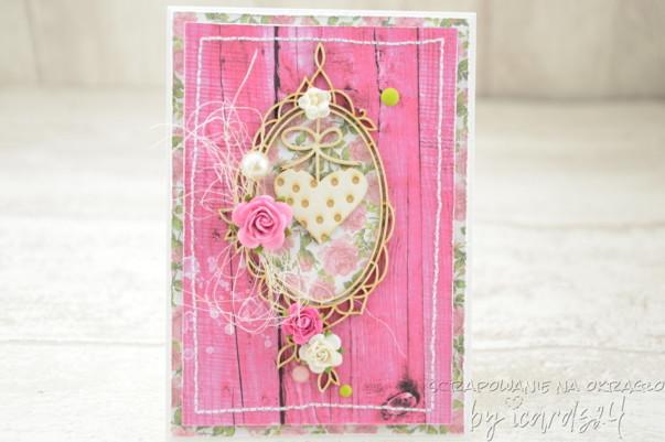 Ślubna kartka z sercem