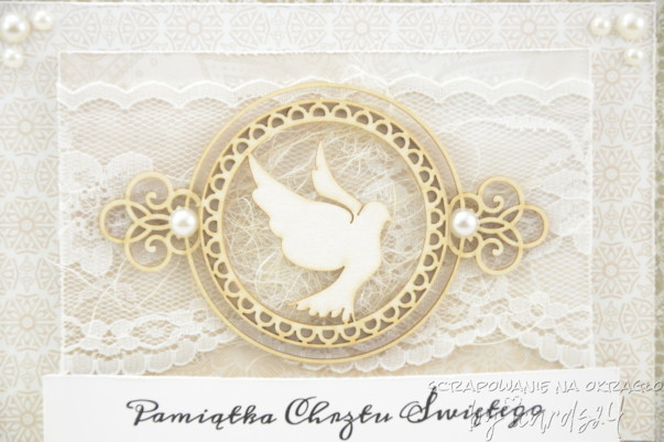 Pamiątka Chrztu Świętego z gołębiem