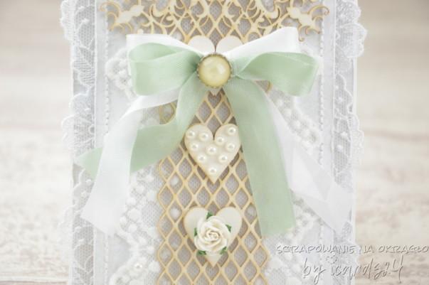 koronkowa kartka na Ślub