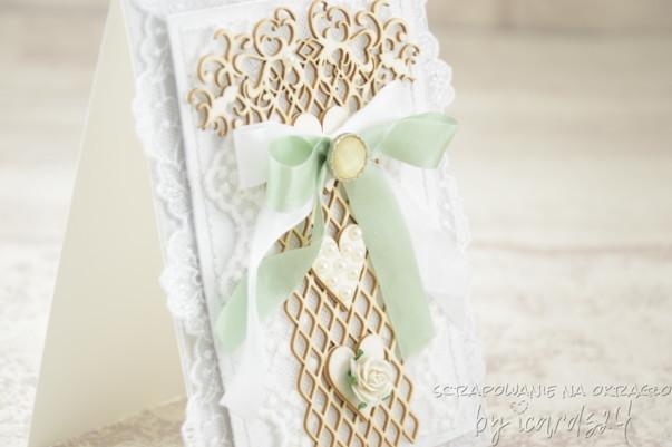 biała kartka na Ślub