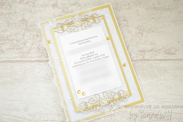 zaproszenie na Ślub glamour