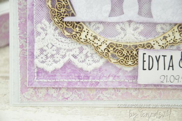 kartka na Ślub handmade