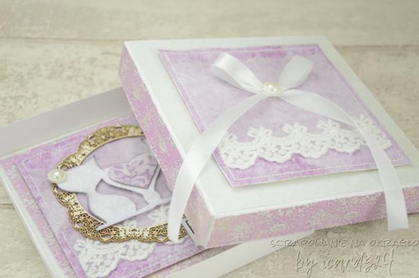 pamiątka z pudełkiem na Ślub