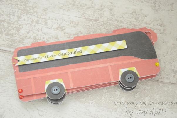 Zaproszenie w kształcie autobusu