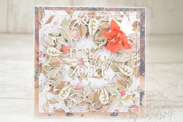 jesienna ślubna kartka