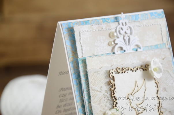 niebieska kartka na Chrzest Święty