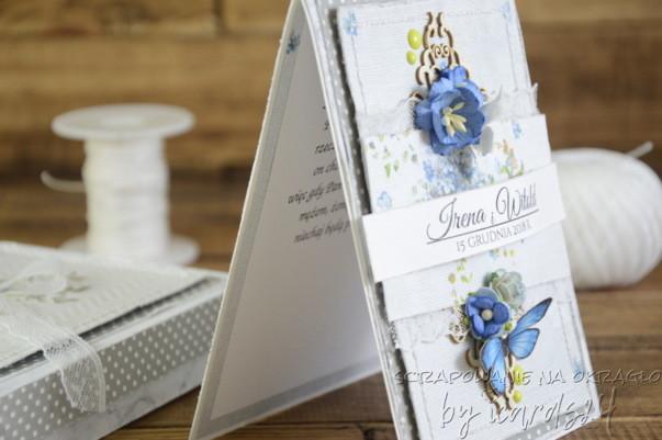 Niebiesko-szara kartka