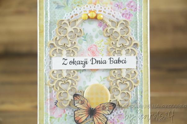 kwiecista kartka dla Babci