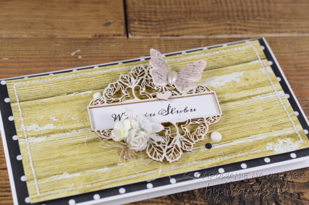 Złota kartka z okazji Ślubu