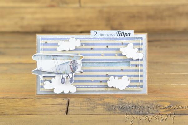 kartka dla chłopca z samolotem