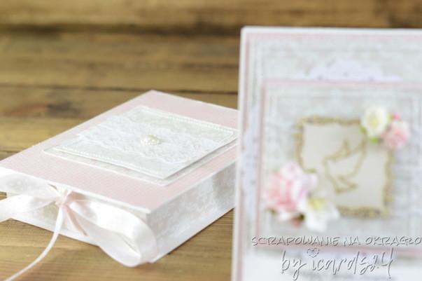 pamiątka z pudełkiem na Chrzest Święty