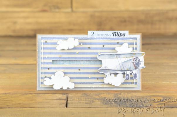 kartka na urodziny z samolotem