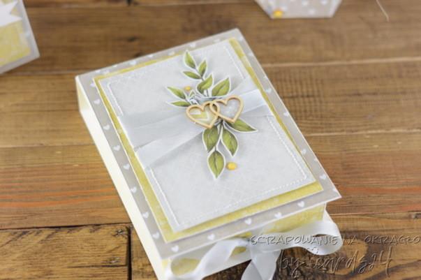 pudełko do kartki na Ślub
