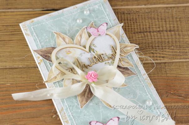 kartka z sercem na Ślub
