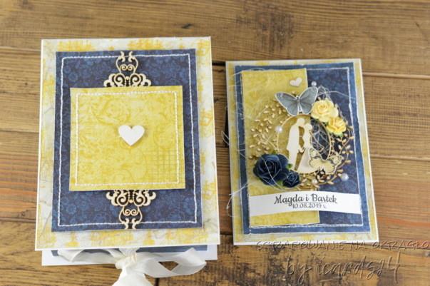 kartka z pudełkiem na Ślub