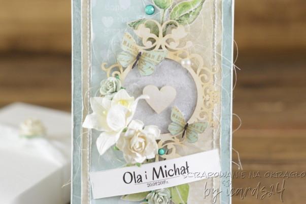miętowa kartka na Ślub