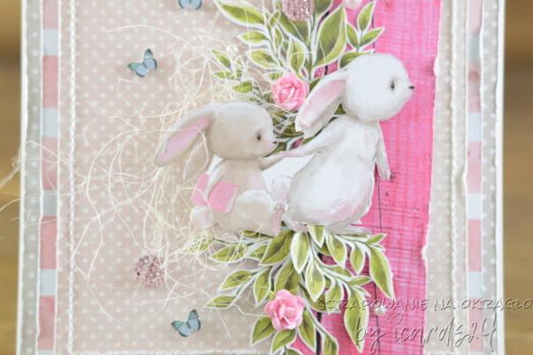kartka z króliczkami