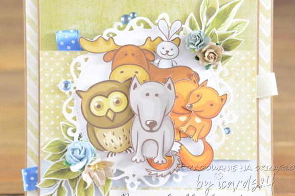 kartka ze zwierzątkami