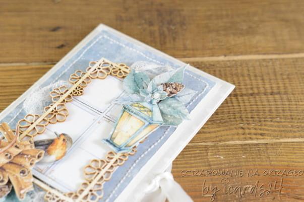 kartka na święta z lampionem