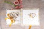 złoto-czarna pamiątka z okazji ślubu