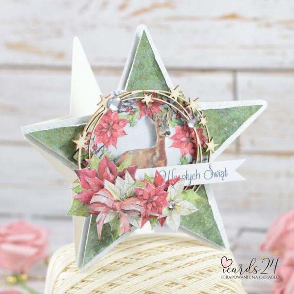 kartka w kształcie gwiazdy