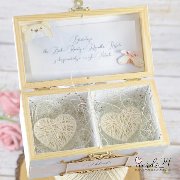 pudełko z sercami dla dziadków