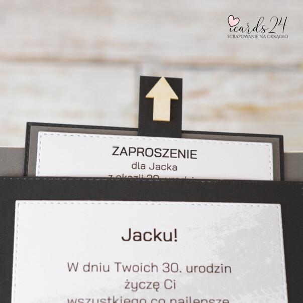 kartka z zaproszeniem