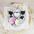 kartka z kotami na ślub