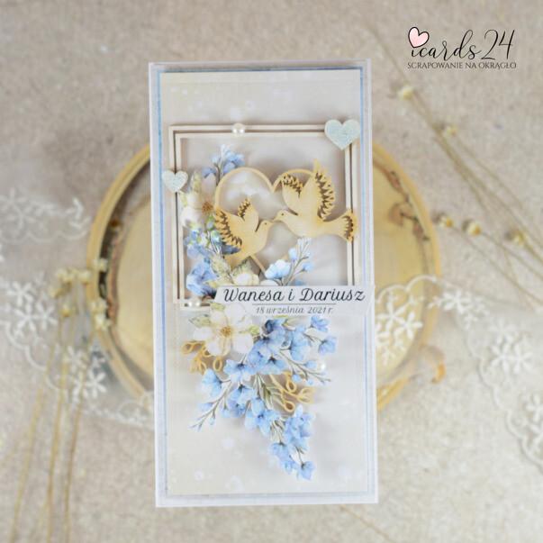 ślubna kartka do koperty