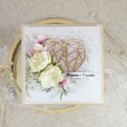 drewniana pamiątka na ślub